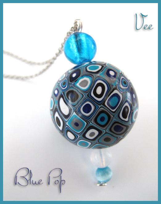 Sautoir Blue Pop