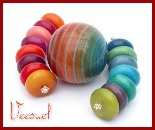 Perle Vortex Multicolore